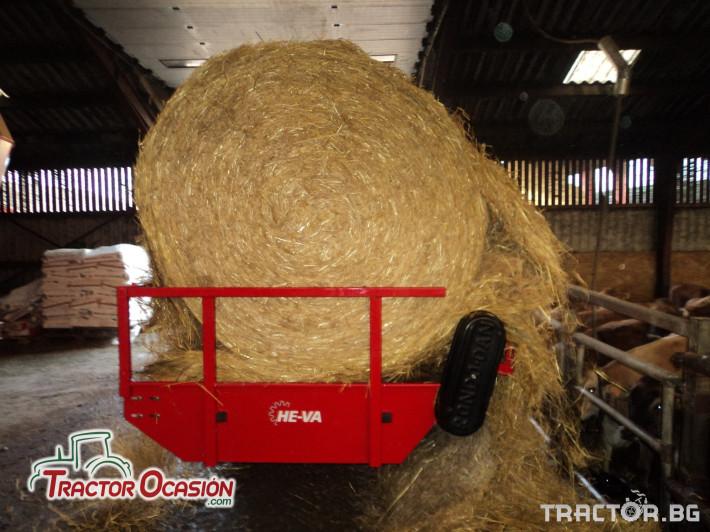 Машини за ферми Навесно устройство за разхвърляне на постеля и хранене, от ролонни бали.HE-VA RONDO-DAN 7