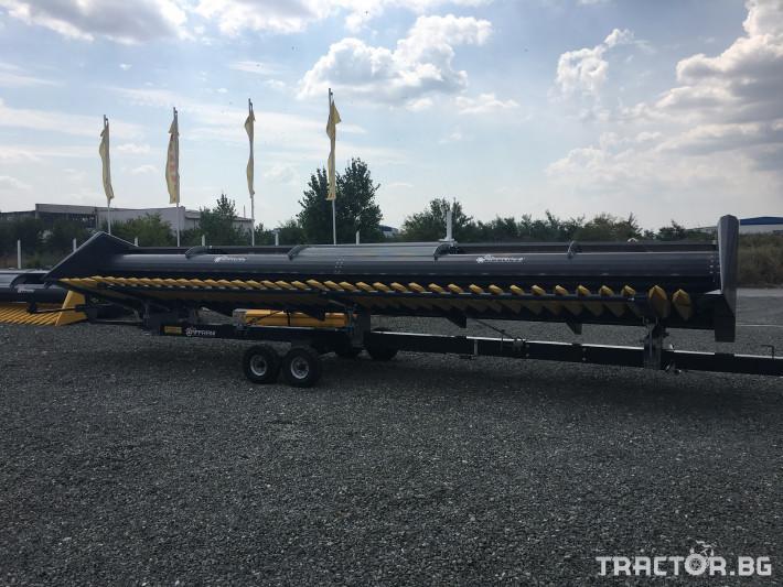 Хедери за жътва Zaffrani Безредов 9,4 м. 8 - Трактор БГ
